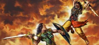 अर्जुन का धर्मराज युधिष्ठिर के सामने कर्ण के वध की प्रतिज्ञा करना