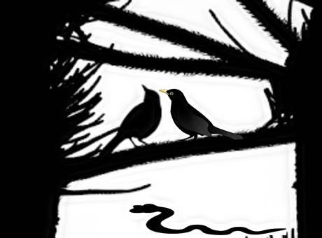 पंचतन्त्र की कहानियां-कौवा कौवी और सांप की मृत्यु