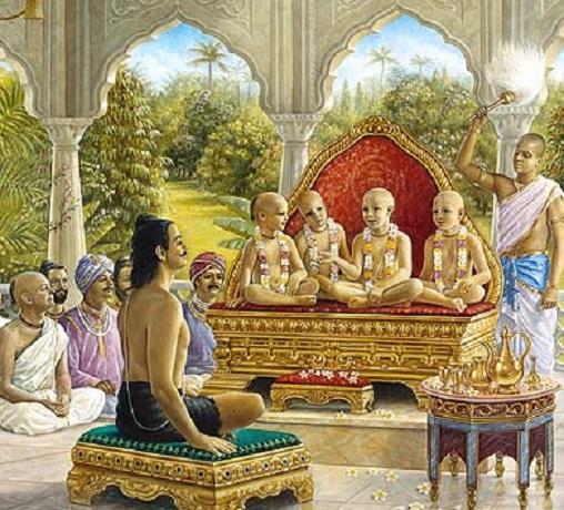 सम्राट पृथु की सभा में सनकादी ऋषियों का जाना