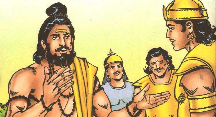 गुरु द्रोणाचार्य की आज्ञा से अर्जुन ने द्रुपद की नगरी में हाहाकार मचा दिया