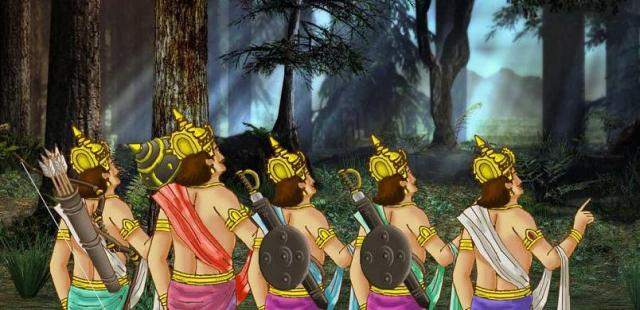 विदुर की चतुराई भरी सहायता से पाण्डव अपनी माँ कुंती के साथ लाक्षाभवन se